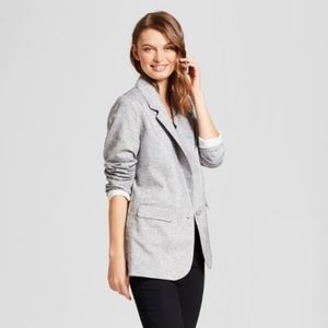 A New Day Metallic Linen Blazer with Side Button